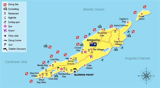 Welcome To Anguilla StMartinbookingscom - Caribbean anguilla map